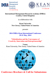 Conference Brochure & Call for Submissions IMRA Kean International Conference