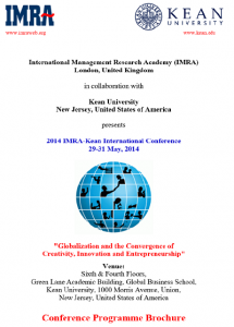 Conference Programme Brochure IMRA Kean International Conference